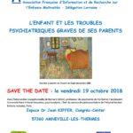 Avec l'intervention exceptionnelle de Bernard GOLSE, professeur de psychiatrie de l'enfant et l'adolescent Université Paris V-René Descartes, psychanalyste, Chef du service de pédopsychiatrie de l'Hôpital Necker-Enfants malades, Paris